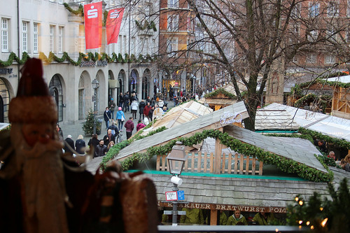 view on the Christmas market outsid
