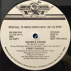 FIRST CHOICE:DOUBLE CROSS(LABEL SIDE-B)