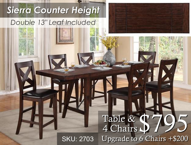 Sierra Counter Height Set