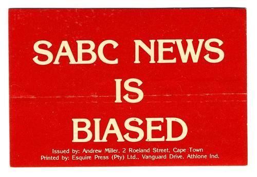 1983-1985 End Conscription Campaign - SABC News Is Biased