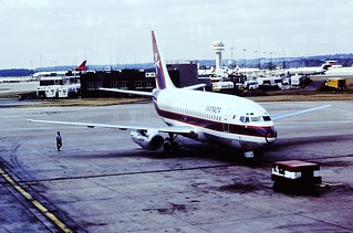 9H-ABA B737 Air Malts Gatwick 05-08-83