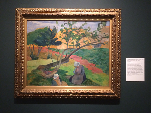 IMG_2863 _ Landscape with two Breton Women, Gauguin, Looking East, Asian Art Museum