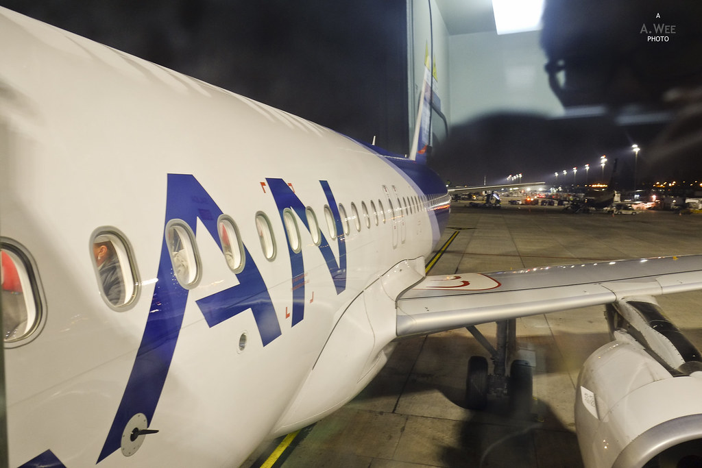 Boarding the LAN A320