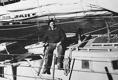 Reid Stowe Sailor on his boat The Anne!
