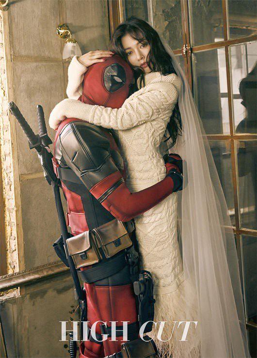 HyunA vira esposa do Deadpool em photoshoot para magazine