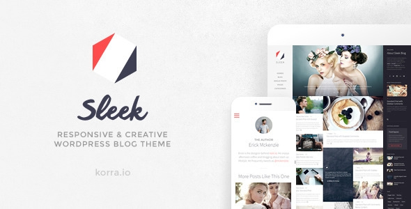Sleek v1.5 - Responsive & Creative WordPress Blog Theme