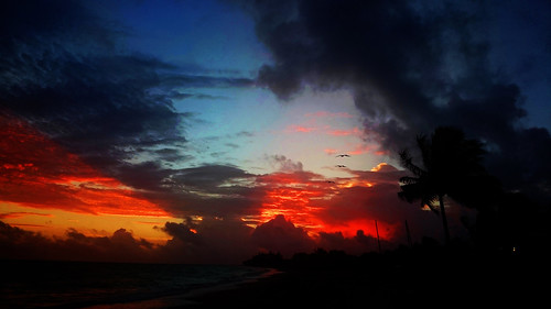 cuba cuban scenery beach sand sunrise sunset nature natur clouds sunlight morning
