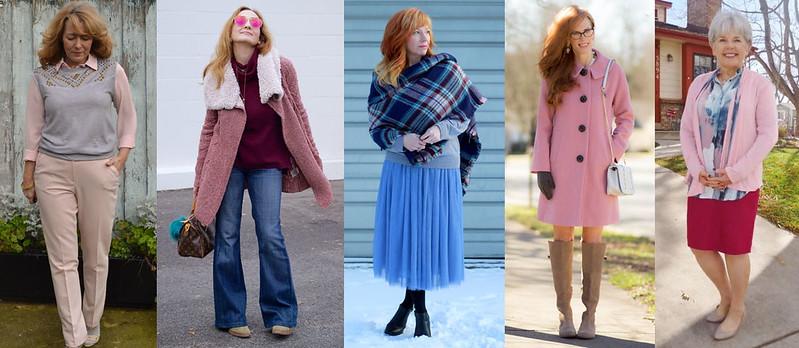 Fashion bloggers in Pantone's Rose Quartz & Serenity #iwillwearwhatilike