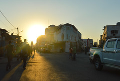 Sunset in the African quarter