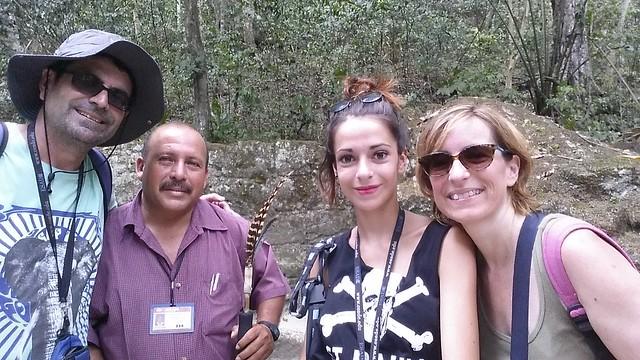 A Tikal amb el nostre guia...