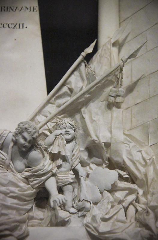 Model of the memorial of J.F. de Friderici Gerrit Schouten, wood papaer glass, 1812