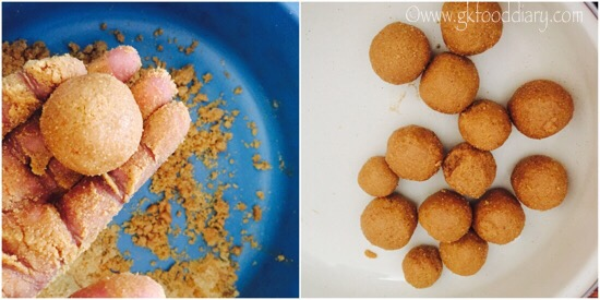 Moong dal Ladoo Recipe for Toddlers and Kids - step 6