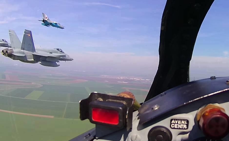 Aspect de la exercițiul bilateral româno-canadian se află în plină desfășurare la Baza militară de la Mihail Kogălnicean (4)