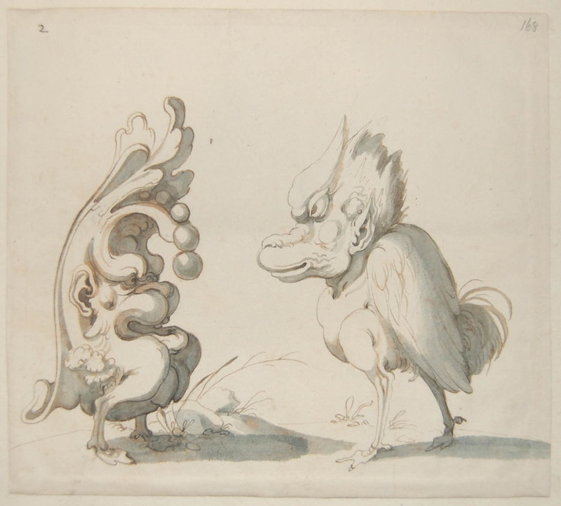 Arent van Bolten - Monster 168, from collection of 425 drawings, 1588-1633