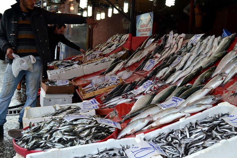 El pescado abunda en cualquier rincón de Estambul.