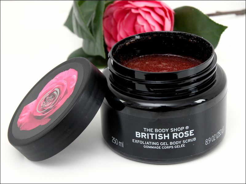 TBS british rose exfoliating gel body scrub