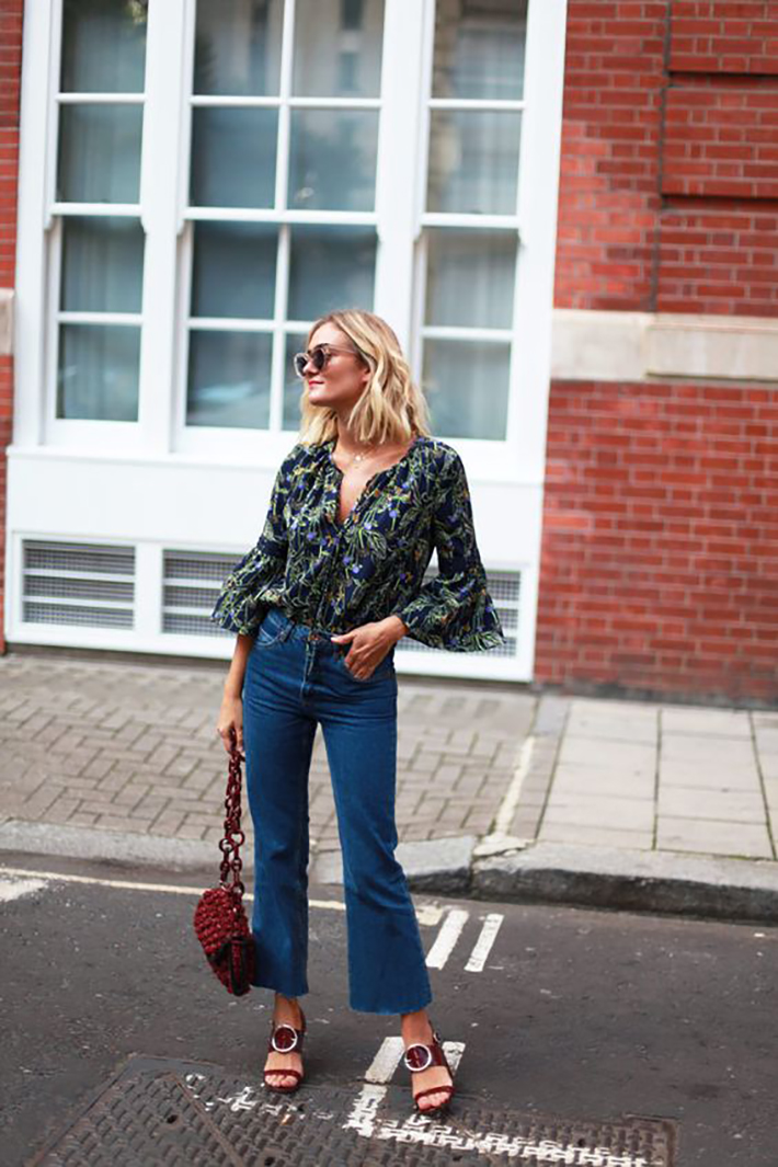 cropped flare jeans6