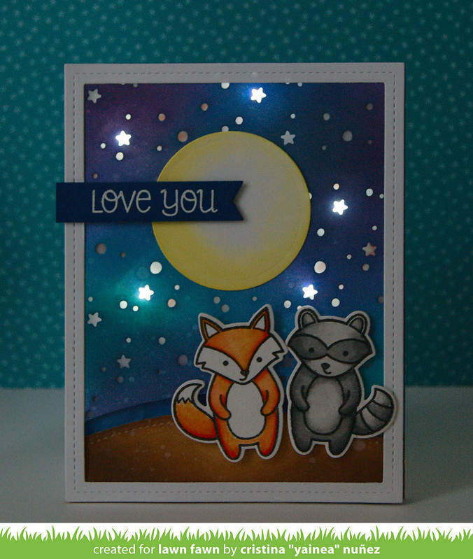 Love You interative LED card on