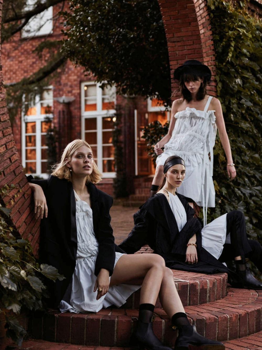 katie Braatvedt, Freya Sombroek, Emilia Senko By Jake Terrey For Harper's Bazaar Australia April 2016