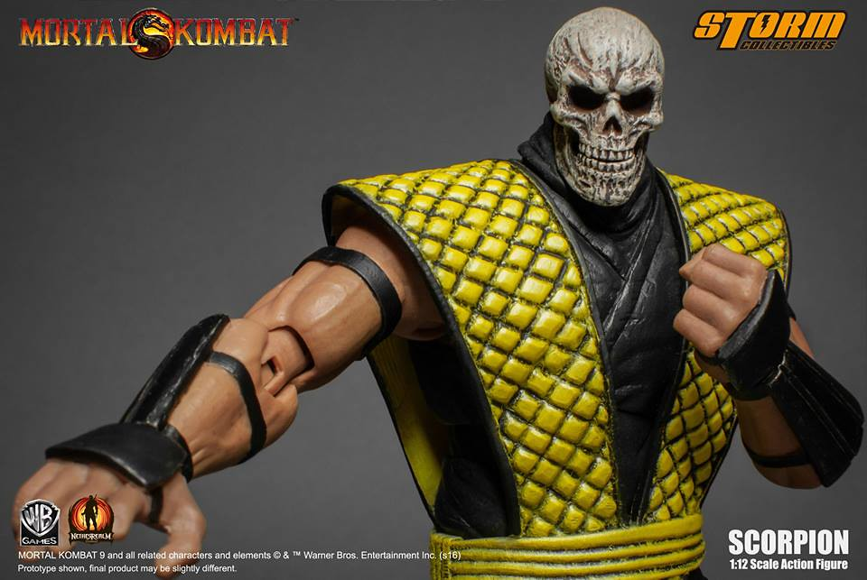 Storm Collectibles 真人快打系列【魔蠍】Scorpion 1/12 比例人偶作品