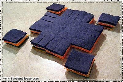 How to: No Sew Fleece Cube / Box Shelf 26207071232_5669579912