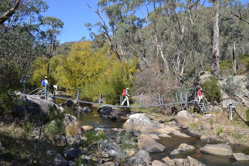 Crossing the Tumbarumba creek