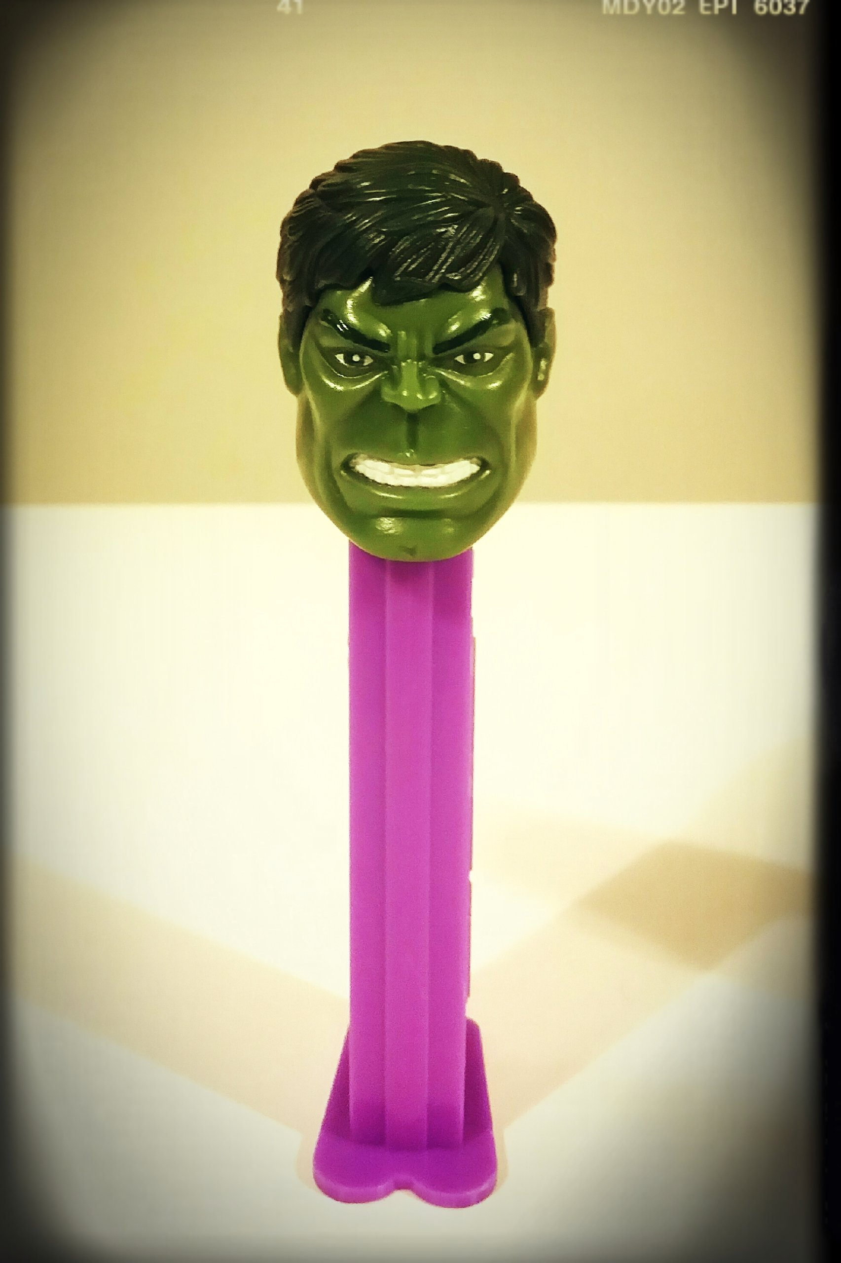 70s-lookin' PEZ Hulk!