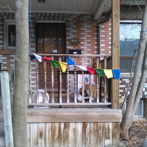 Tibetan prayer flags, Bathurst #toronto #bathurststreet #tibet #prayerflags #buddhism