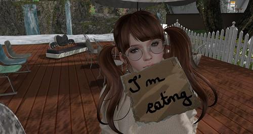 I'm eating