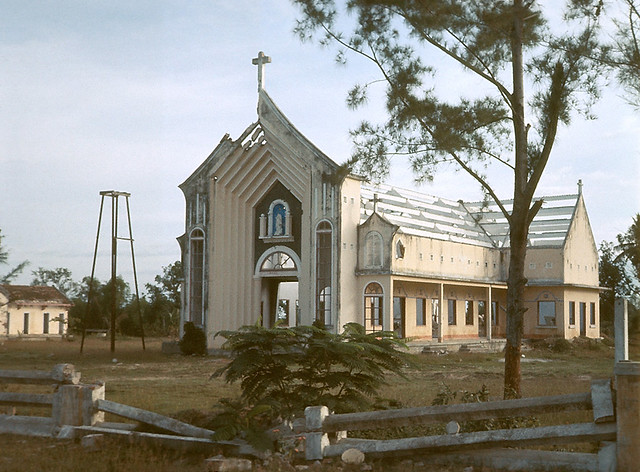 DUC PHO 1967 - Damaged Church - Photo by Richard B Mayes