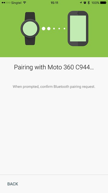 Android Wear iOS - Bluetooth Pairing