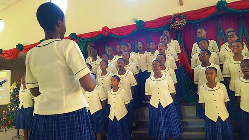 The choir of Louisville Girls Secondary School Abuja