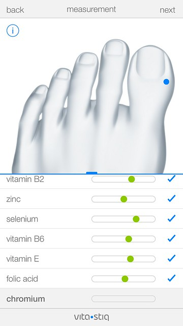 Vitastiq iOS App - Measurement - Total Care