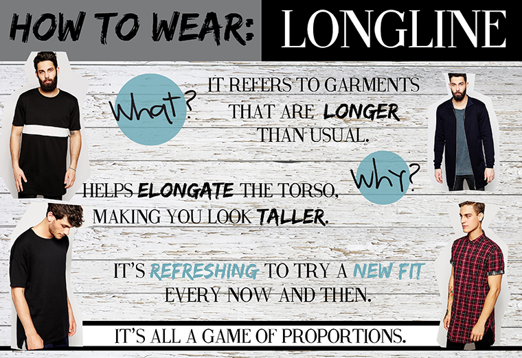 How to wear longline clothes