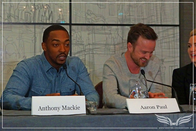 The Establishing Shot: TRIPLE 9 ANTHONY MACKIE DISCUSSES WHAT DREW HIM TO TRIPLE 9 - CORINTHIA HOTEL LONDON