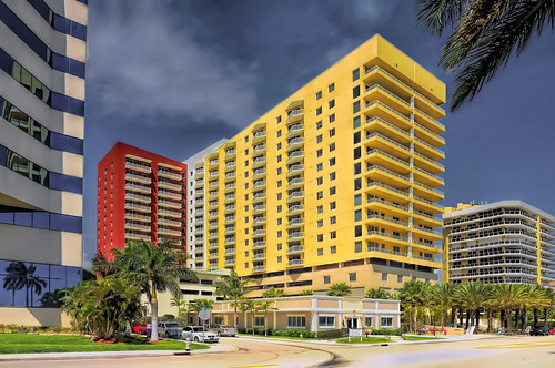 modern highrise building architecture cityscape downtown urban westpalmbeach florida usa palmbeachcounty sunshinestate