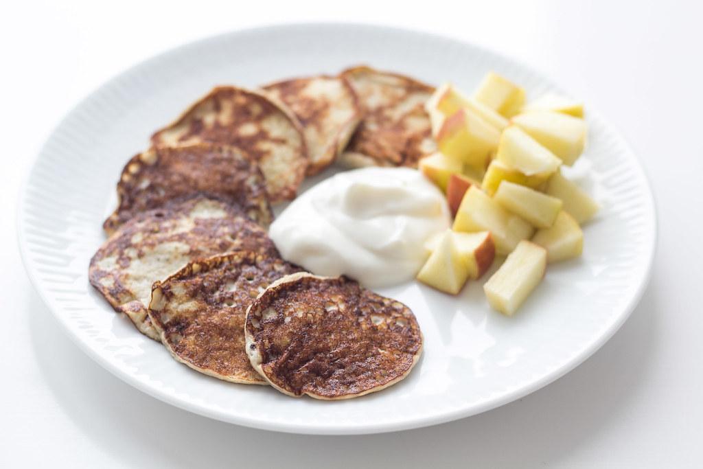 Opskrift på Bananpandekager kun med banan og æg