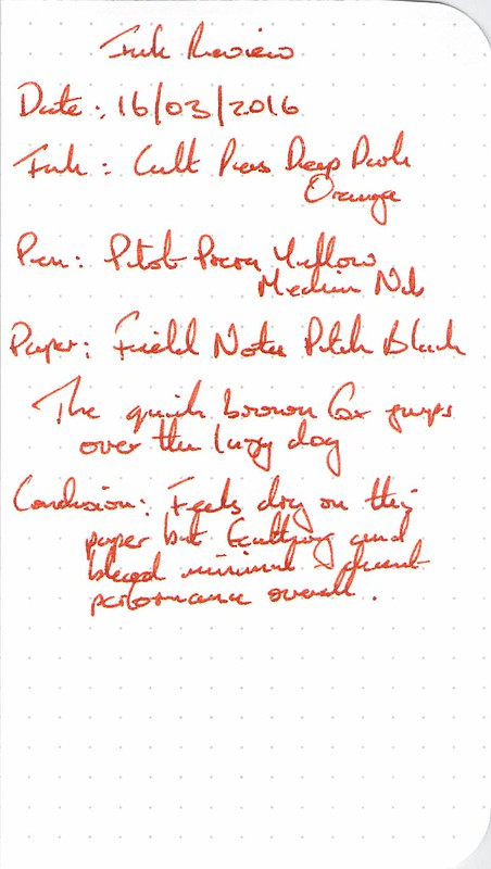 Cult Pens Deep Dark Orange - Field Notes