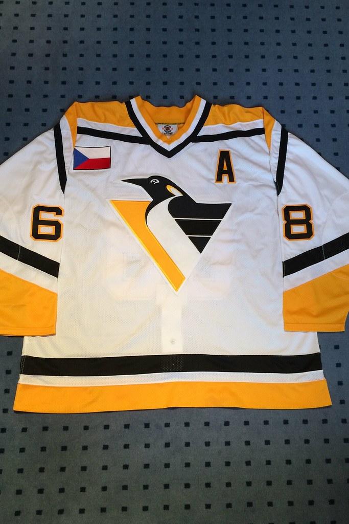 Pittsburgh Penguins 1996/1997 Home Jaromir Jagr Starter Mesh Sz.56R (front)
