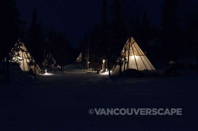 Teepees in Aurora Village