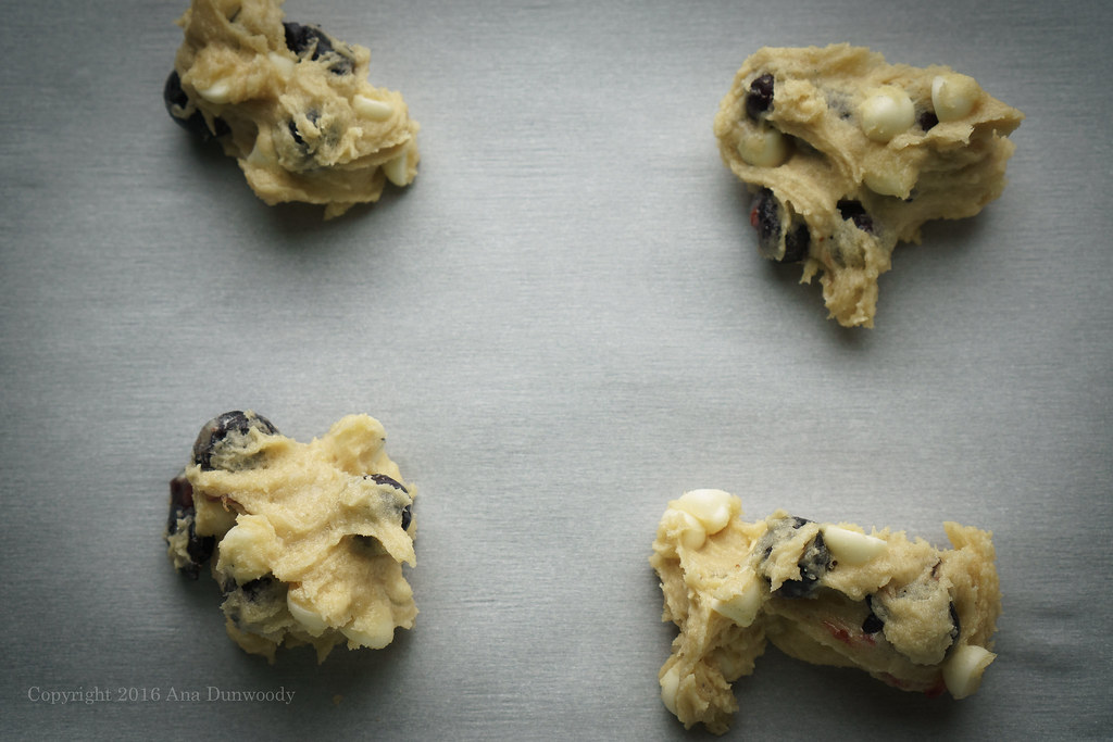 White Chocolate Chip and Blueberry Cookie Dough