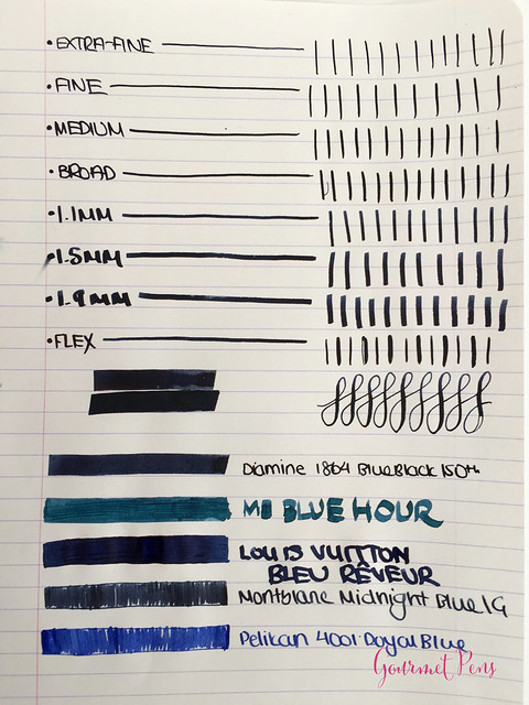 Ink Shot Review Diamine 150th Anniversary 1864 Blue Black (1