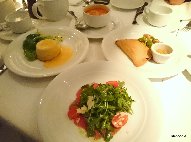 Dinner at Tropicana Dining Room on board the Norwegian Getaway