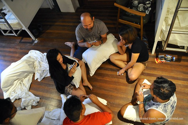 Team RH Playing Card Games at Tambayan Capsule Hostel