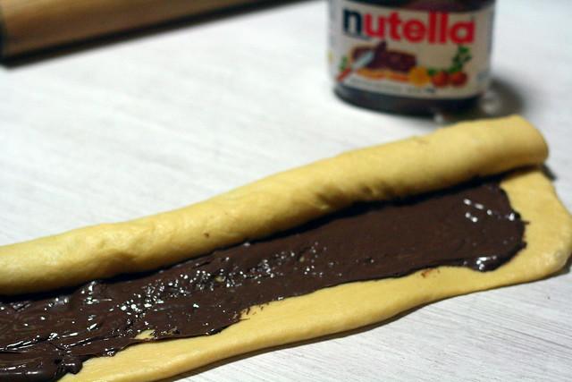 Rellenando con Nutella
