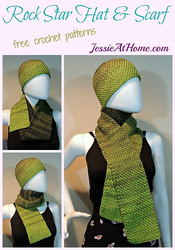 Rock Star Hat & Scarf - free crochet pattern by Jessie At Home