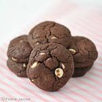 Gluten free triple choc cookies recipe