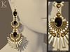 (Kunglers) Shani earrings V3- obsidian