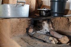Clay stove wood