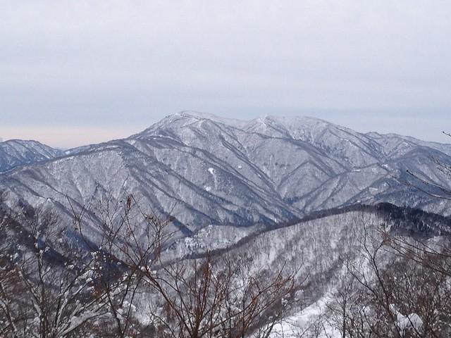 土蔵岳 稜線から金糞岳